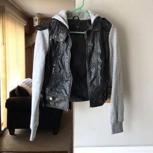 Full Tilt faux leather jacket with hood